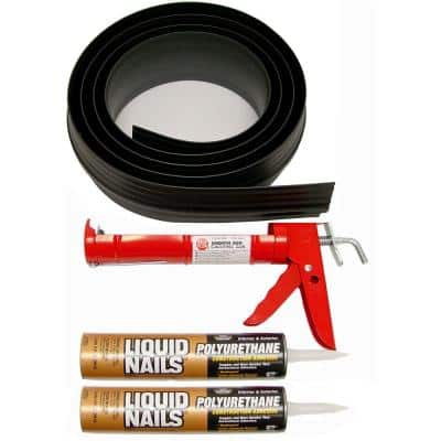 16 ft. 6 in. Black Garage Door Threshold Kit