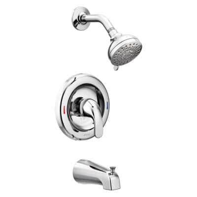 Adler Single-Handle 4-Spray Tub and Shower Faucet in Chrome (Valve Included)