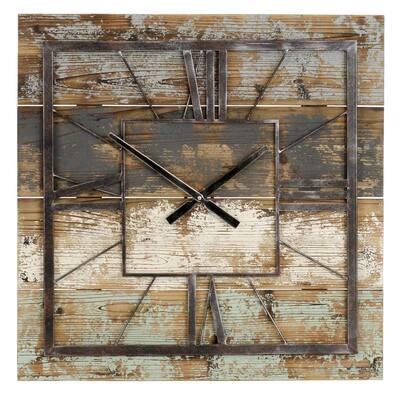 Weston Multi-colored Square Wall Clock