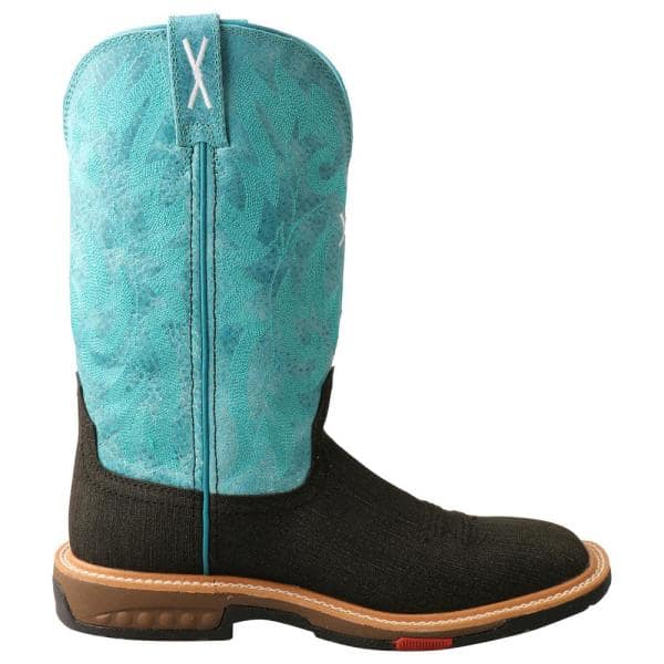 Twisted X Women S Lite Boot 11 In Work Boots Alloy Toe Charcoal Turquoise Size 11 B Wxba001 B 11 The Home Depot