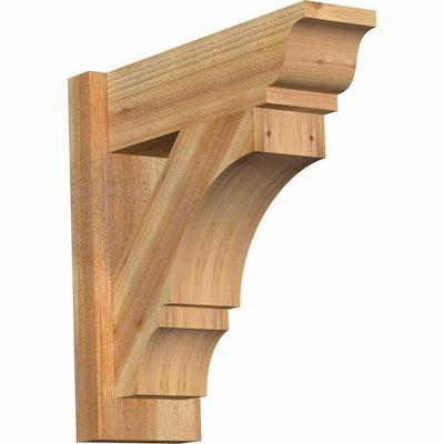 6 in. x 18 in. x 18 in. Western Red Cedar Balboa Traditional Rough Sawn Outlooker