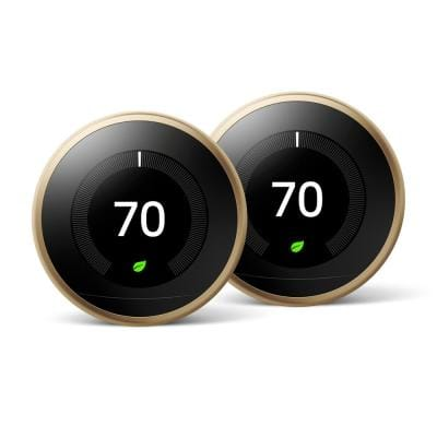 Nest Learning Thermostat 3rd Gen in Brass (2-Pack)
