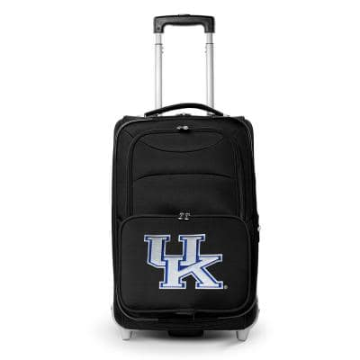 NCAA Kentucky 21 in. Black Carry-On Rolling Softside Suitcase