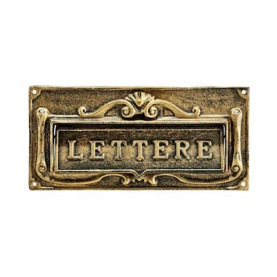 Bronze Steel Fabulous Italian Through-Door Mail Slot