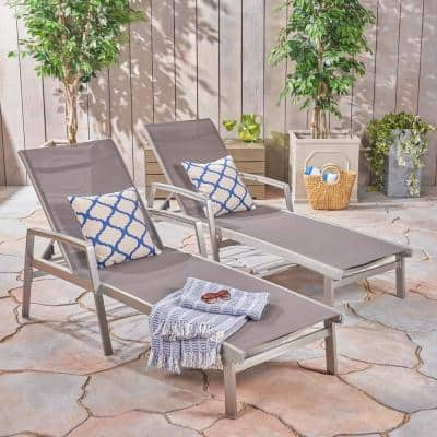 Jeremy Gray 2-Piece Metal Outdoor Chaise Lounge
