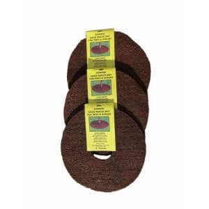 18 in. Dia Coconut Fiber Tree Protection Weed Mat Edging (3-Pack)