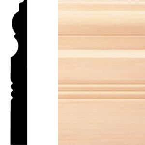 3/4 in. x 6-1/2 in. x 8 ft. Hardwood Wood Victorian Baseboard Moulding