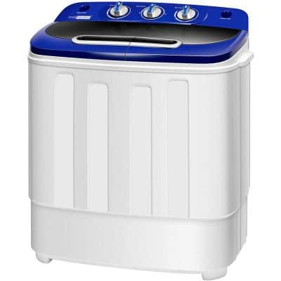 23.2 in. W 0.78 cu. ft. Portable 2 in 1 Twin Tub Mini Laundry Washer with Drain Hose