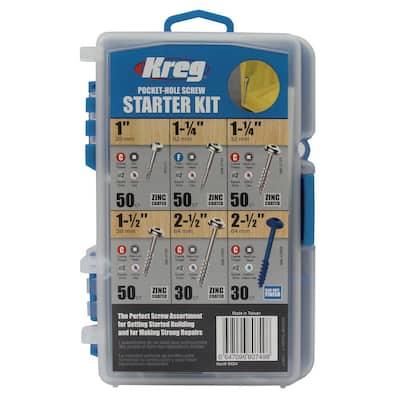 Pocket-Hole Screw Starter Kit (260-Pack)