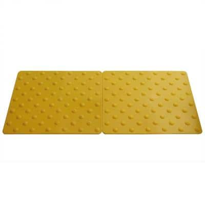 Novogrip Access Yellow 16-1/2 in. x 18 in. TPU Accessibility Mat