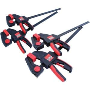 Trigger Clamp Set Containing 2 Each of EHKM06 and EHKL12 (4-Piece)