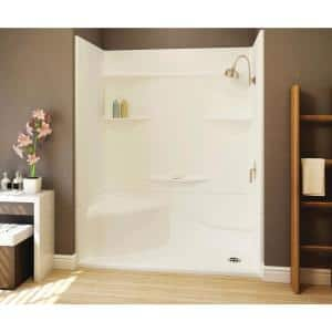 Acrylx Applied-Acrylic 30 in. x 60 in. x 55.4 in. 3-Piece Direct-to-Stud Alcove Shower Surround in White