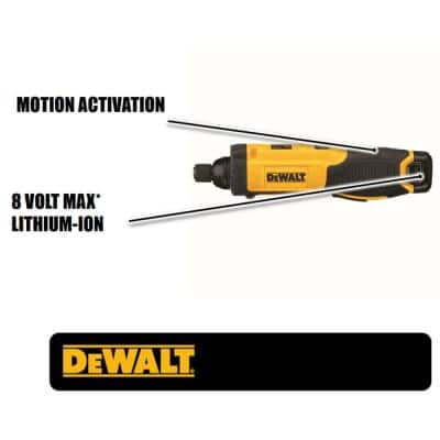 8-Volt MAX Cordless 1/4 in. Hex Gyroscopic Screwdriver, (1) 1.0Ah Battery and Charger