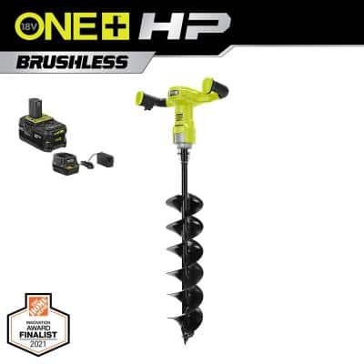 ONE+ HP 18V Brushless Cordless Earth Auger with 6 in. Bit with 4.0 Ah Battery and Charger