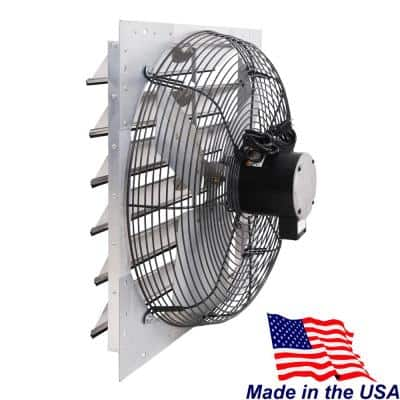 4450 CFM Shutter Exhaust Fan Wall Mounted