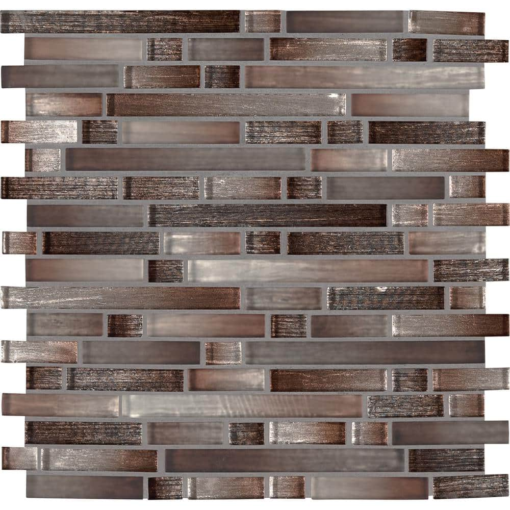 Msi Burnished Sunset Interlocking 12 In X 11 75 In X 8 Mm Glass Mesh Mounted Mosaic Tile 9 8 Sq Ft Case Glsil Bursun8mm The Home Depot