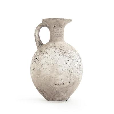 Terracotta Taupe Decorative Pitcher Vase