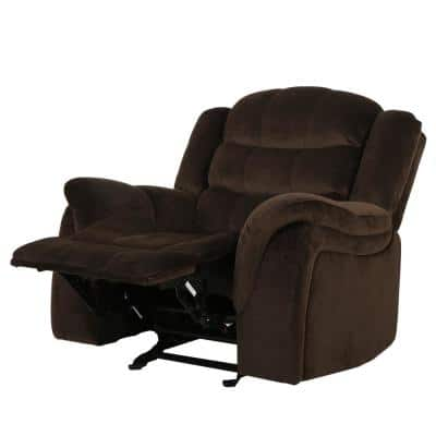 Hawthorne 39 in. Width Big and Tall Chocolate Polyester Wall Hugger Recliner