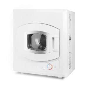 2.6 cu. ft. White Portable Electric Stainless Steel Tumble Dryer with Automatic Drying Mode 8.8 lbs. Capacity