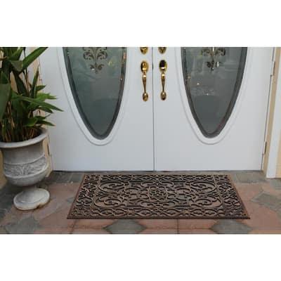A1HC Indoor/Outdoor All Weather Large Size, Double & Single Doors/Front Door 30 in. x 48 in. Bronze Rubber Grill Doormat