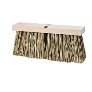 Palmyra 16 in. Stalk Bristled Heavy Street Sweep Broom (12-Case)