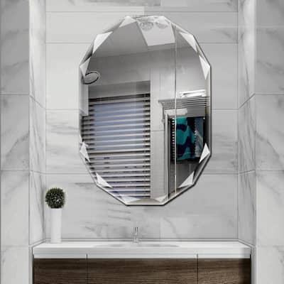 30 in. W x 36 in. L Single Beveled Edge Bath Wall Vanity Mirror