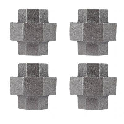 3/4 in. Black Iron Union for Furniture Building and Regular Plumbing Applications (4-Pack)