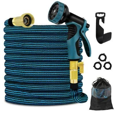 3/4 in. 50 ft. Expandable Garden Hose with 10 Function High Pressure Nozzle 3750D Flexible Water Hose