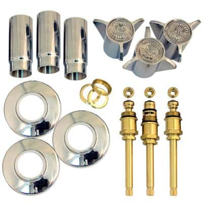 Tub and Shower Rebuild Kit for Sayco Space Age 3-Handle Faucets