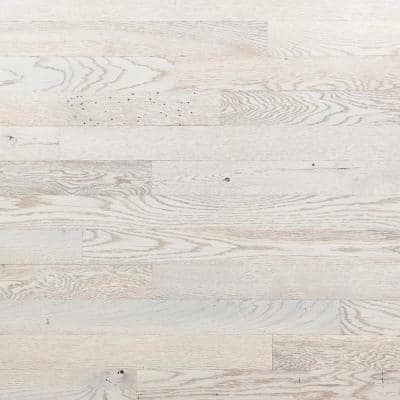 1/8 in. x 3 in. x 12 in. - 42 in. White Oak Peel and Stick Wooden Decorative Wall Paneling (10 sq. ft./Box)