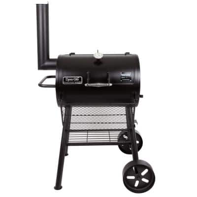 Signature Heavy-Duty Compact Barrel Charcoal Grill in Black