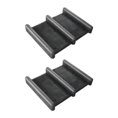15 in. x 12.5 in. Heavy-Duty Rubber Boot and Shoe Scrub Brush Mat (2-Pack)