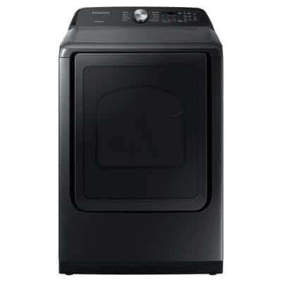 7.4 cu. ft. Black Stainless Steel Electric Dryer with Sensor Dry