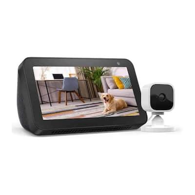 Echo Show 5 in Black Plus Blink Mini (1-Camera)