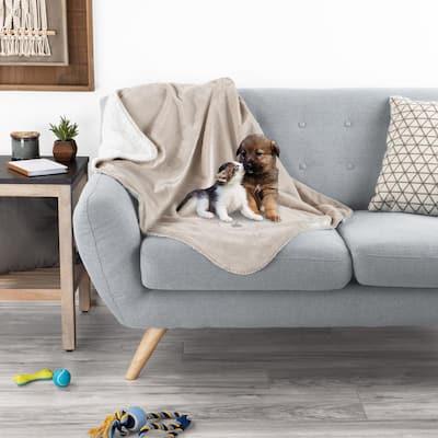Waterproof Pet Plush Lap Throw Blanket