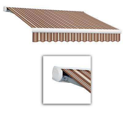 14 ft. Key West Full Cassette Left Motor Retractable Awning (120 in. Projection) Brown/Terra