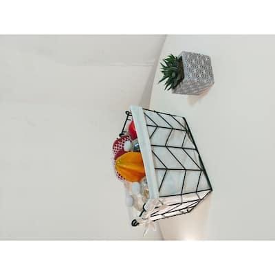 Metal Wire, Rectangular Storage Baskets (3-Piece Set of Decorative Nesting Storage Organizers)