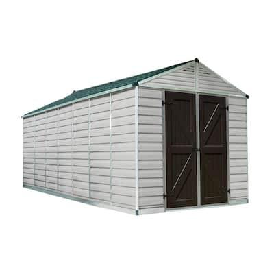 SkyLight 8 ft. x 16 ft. Tan Storage Shed