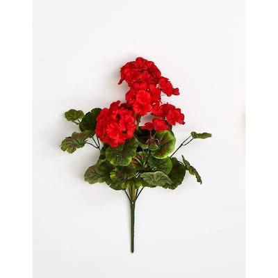 18 in. Geranium Bush with 9-Flower Heads