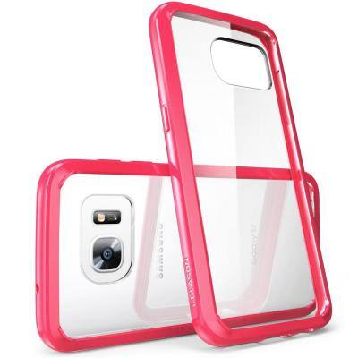 Galaxy S7-Halo Series Transparent Case-Pink