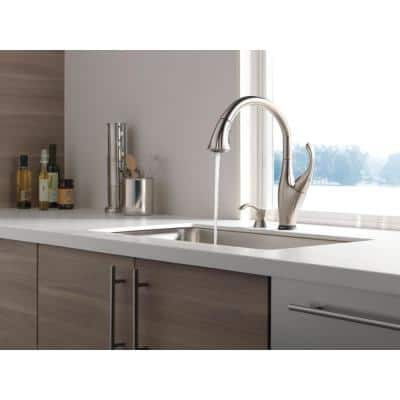 Addison Single-Handle Pull-Down Sprayer Kitchen Faucet with Touch2O Technology and Soap Dispenser in Stainless