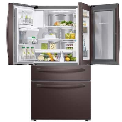 27.8 cu. ft. Food Showcase 4-Door French Door Refrigerator in Fingerprint Resistant Tuscan Stainless