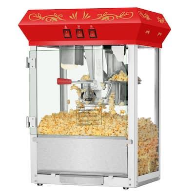 8 oz. Movie Night Red Countertop Popcorn Machine