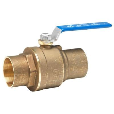 2 in. Lead Free Brass Sweat x Sweat Ball Valve