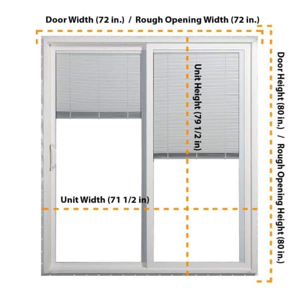 Jeld Wen 72 In X 80 V 4500 White, What Size Is A Sliding Patio Door