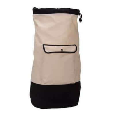 White with Black Trim Backpack Duffel Laundry Bag