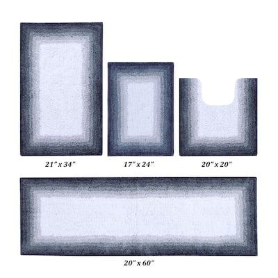 Torrent Collection Gray 100% Cotton 4 Piece Bath Rug Set