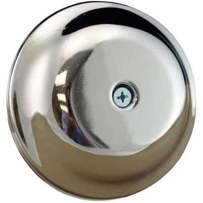 7-1/4 in. High Impact Plastic Cleanout Cover Plate in Chrome Bell Design with Screw