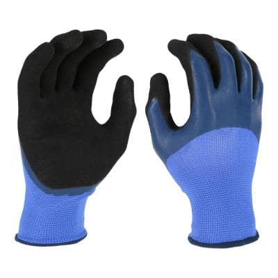Women's Large Blue Double Dipped Latex Glove