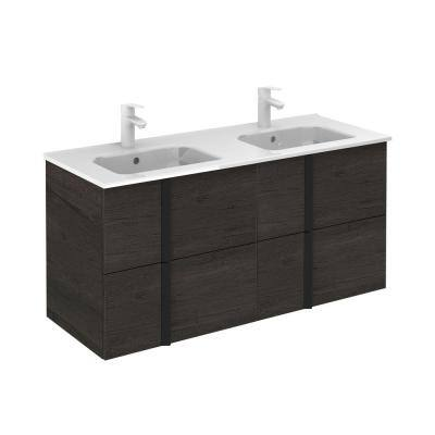 Onix 48 in. W x 18 in. D Vanity with Drawers in Essence Wenge with Vanity Top in White Ceramic Basin
